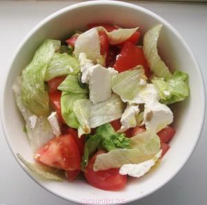 salade voor quinoa pannenkoeken