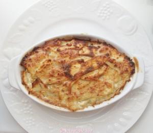 zoete aardappel prei schotel 6