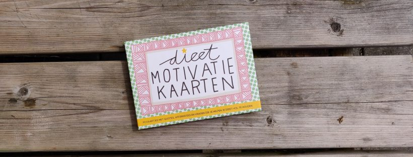 motivatie kaarten bij het afvallen dieet